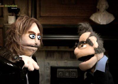 Puppet Tim Minchin & Robin Ince