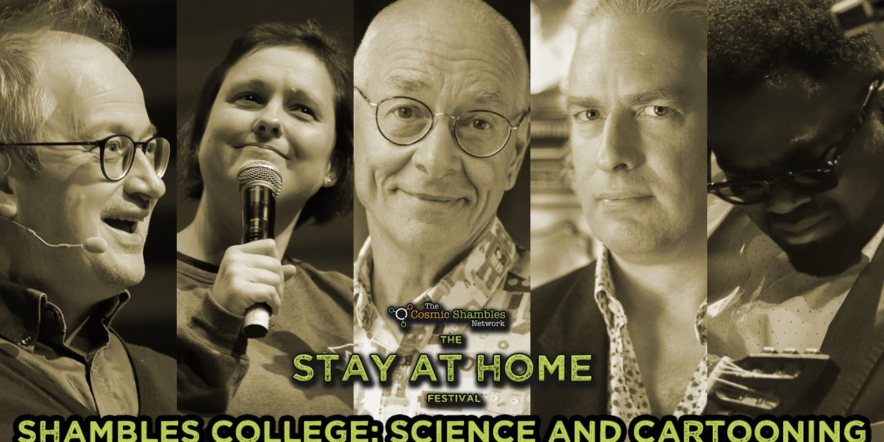 Dr Karl, Martin Rowson and Femi – Shambles College April 28th