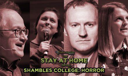 Mark Gatiss and  Suzie Gage- Shambles College April 27th