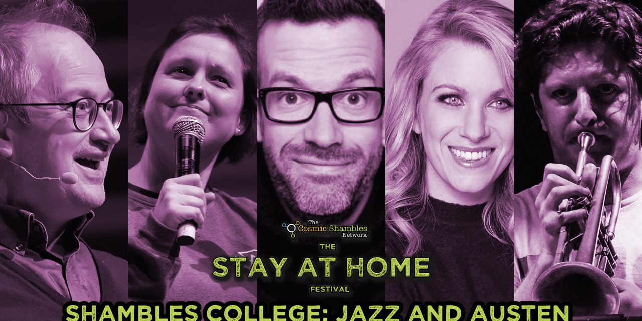 Marcus Brigstocke, Rachel Parris and Steve Pretty- Shambles College April 30th